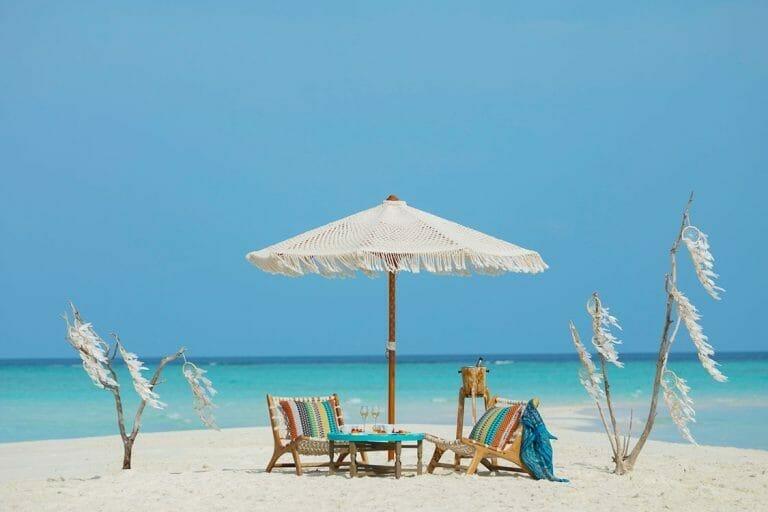 Beach Seating Areas at The Nautilus Maldives