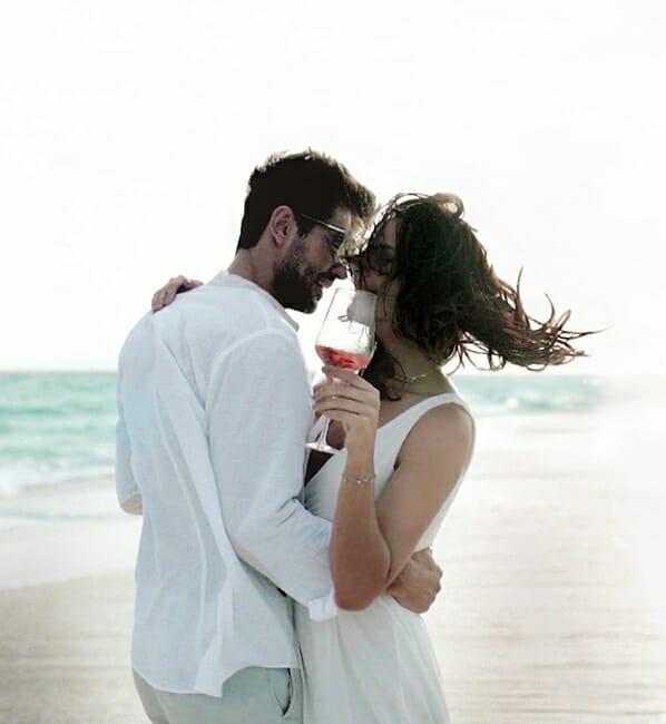 Romantic Beach Celebration in Maldives